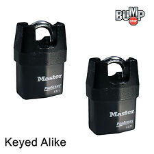 Master Lock Pro Series-(3) High Security Padlocks Keyed Alike 6321NKA-3 BumpStop