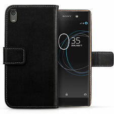 Genuine Leather Wallet Case For The Sony Xperia XA1 Ultra Best Flip Folio Cover
