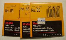Kodak wratten GELATINA Filtro No 82 7.6cm OR 75mm Cuadrado