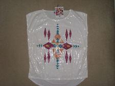 Shirttop von AJC in Wollweiss mit Pailetten~~Grösse 44/46