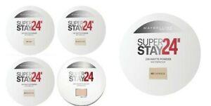 MAYBELLINE Superstay 24 Longwear Waterproof Matte Powder 9g SEALED -choose shade