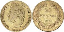 Pièces de monnaie françaises de 20 francs sur Louis-Philippe