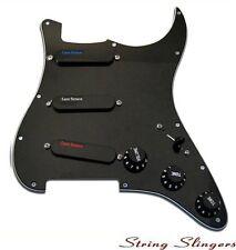 Lace Sensor Loaded Pickguard Plus (Bl,Si,Rd) Pickup set for Strat Black 21043-02
