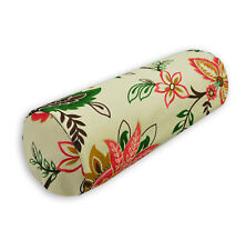 lf337g Fuschia Green Brown High Quality Cotton Canvas Yoga Bolster Cushion Cover
