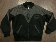 RARE🔥 Batman Returns Movie Crew BOMBER Leather Jacket L Made IN USA EXCLUSIVE L