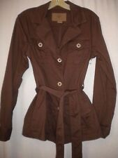 Great Northwest Size Small Brown Belted Women Trench Coat Blazer Jacket