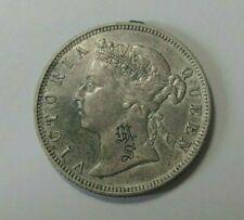 1887 Hong Kong Silver 20 Cents Coin AU