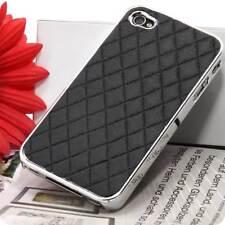 iPhone 4 4G 4S Hülle Tasche Bumper Schutz Schale Schutzfolie in schwarz chrome