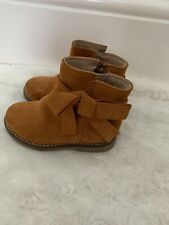 Next Girls Toddler Brown Suede Boots Size 5