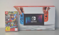 Nintendo Switch Konsole inkl. Super Mario Odyssey rot/blau