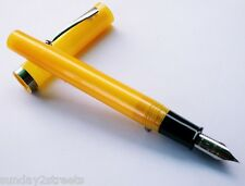 Vintage Fountain Pen–Sheaffer NO NONSENSE Yellow 1980s or 90s F -NIB