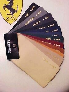 Ferrari Leather Swatch Dealer Samples Testarossa 308 GT4 400 512 F40 1980's OEM