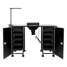 Large Manicure Nail Table Station Desk Salon Spa Beauty Equipment Lockable