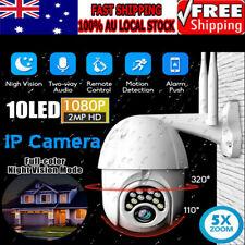 1080P HD IP CCTV Camera Waterproof Outdoor WiFi PTZ Security Wireless IR Cam