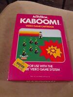 KABOOM! by ACTIVISION for Atari 2600 ▪︎ CIB ▪︎ FREE SHIPPING ▪︎