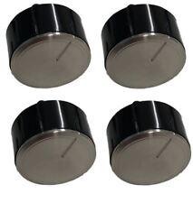 4x Genuino Bosch botón giratorio para horno Esfera Plateado Negro Interruptor