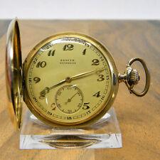 ZENITH 14K 585ER GOLD SCHWEIZER SAVONETTE TASCHENUHR GRAND PRIX PARIS 1900