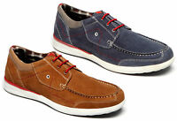 Mens Leather Suede Lace Up Moccasin Deck Boat Casual Designer Shoes Size 6-12
