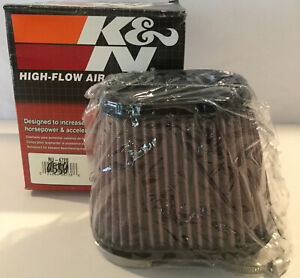 NEW! K&N HI-FLOW AIR FILTER Universal Reusable Dual Flanges CLAMP ON WASHABLE