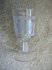 EAPG PLEAT & PANEL or DERBY - CLEAR GLASS WATER GOBLET -  BRYCE BROS 1870s GD