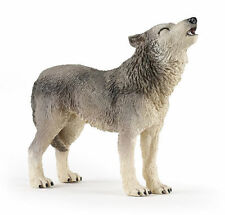 HOWLING GREY WOLF Replica # 50171 ~ FREE SHIP/USA w/ $25.+ Papo Products