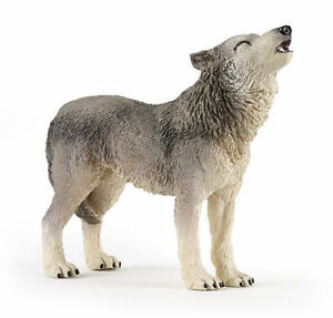 HOWLING GREY WOLF 50171 ~ FREE SHIP/USA w/ $25.+ Papo Products