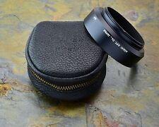 Asahi Pentax Takumar 49mm Standard Metal Lens Hood w/Case 1.4/50 1.8-2/55 #1397