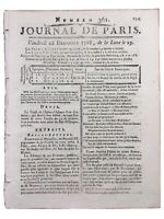 Loups à Semur en Auxois 1788 Chasse aux Loups Rare Journal de Paris
