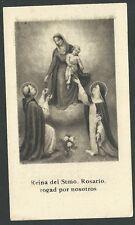 Novena antigua Virgen del Rosario andachtsbild santino holy card santini