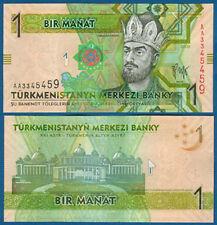 TURKMENISTAN 1 Manat 2009 UNC  P. 22 a