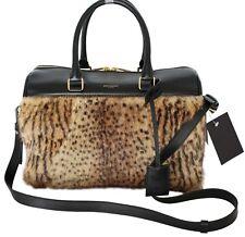 $4,700 Yves St Laurent Leopard Brown Handbag Paris Duffel Fur Bag St. YSL Italy