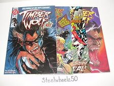 Timber Wolf 4 Comic Lot 1992 DC #1 2 3 5 Legion Of Super Heroes Creeper LOSH HTF