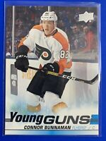 2019-20 UD Young Guns #208 Connor Bunnaman Philadelphia Flyers Rookie