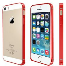 For iPhone SE,5,5S Metal Anodized Bumper Style Protective Cover Guard Case RED