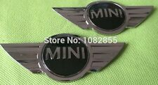 x2 New Mini Cooper Front &  Rear Emblem Hood / Trunk Badge Replaces OEM Decal