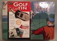 Golf Gift Tin Includes Essential Golf Tool Towel Bag Tag & 50 Wood Tees