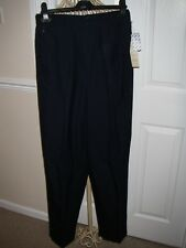 BNWT VINTAGE COLLECTIBLE GOLD BY GIORGIO SAINT ANGELO WOOL NAVY TROUSERS SIZE 10