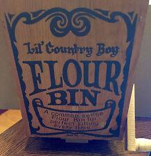 Rare Folk Art Vintage Flour Bin Lil Country Boy Wall Decoration KoD Prop #10