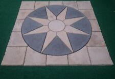 Paving sun star circle with square kit for garden patio slab stone feature.
