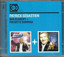 2 CD PATRICK SÉBASTIEN BAR ACADEMY + POCHETTE SURPRISE COLLECTION 2 FOR 1 NEUF