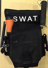 Metal Detecting Finds Pouch Bag Pouch, Drop Leg,Probe & Trowel Pockets Black