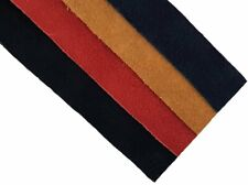 Suede Leather Strips Straps Black & Red Tan Navy length 64 cm 25 mm wide 1.5 mm