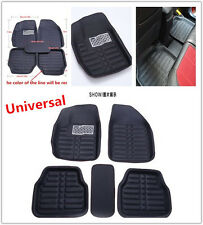 5Pcs PU Leather Car Floor Mats FloorLiner Front&Rear Carpet For Four Weather Mat