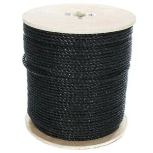 "GOLBERG Twisted Polypropylene Rope 1/4"", 5/16"", 3/8"", 1/2"", 5/8"" in Black"
