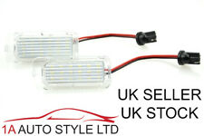 LED Number Plate Lights for Ford Fiesta Mk7 7.5 ST Zetec Ice White Focus mk2