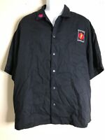 Vintage Men Size XL Black Mattel Interactive Shirt Short Sleeve Button Front