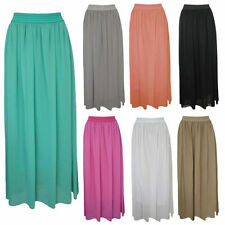 Patternless Casual Maxi Skirts for Women