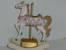 "Sf Music Box Carousel Horse Pink – 7-1/2� High Plays ""Beauty And The Beast"""