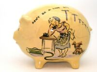 VINTAGE GENUINE 1948 AUSTRALIAN PIGGY BANK - POTTERY - ULTRA RARE!