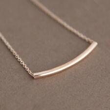 Rose Gold Necklace Tier Tubular Pendant Necklace Wedding Bridal Jewelry Gift